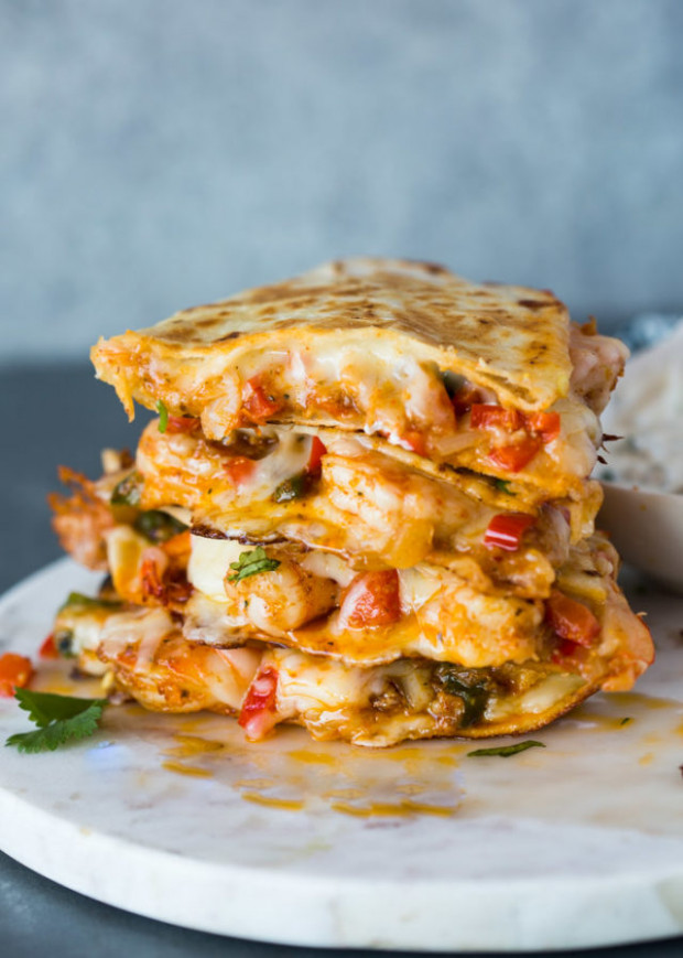 The Best Shrimp Quesadillas - healthy recipes shrimp