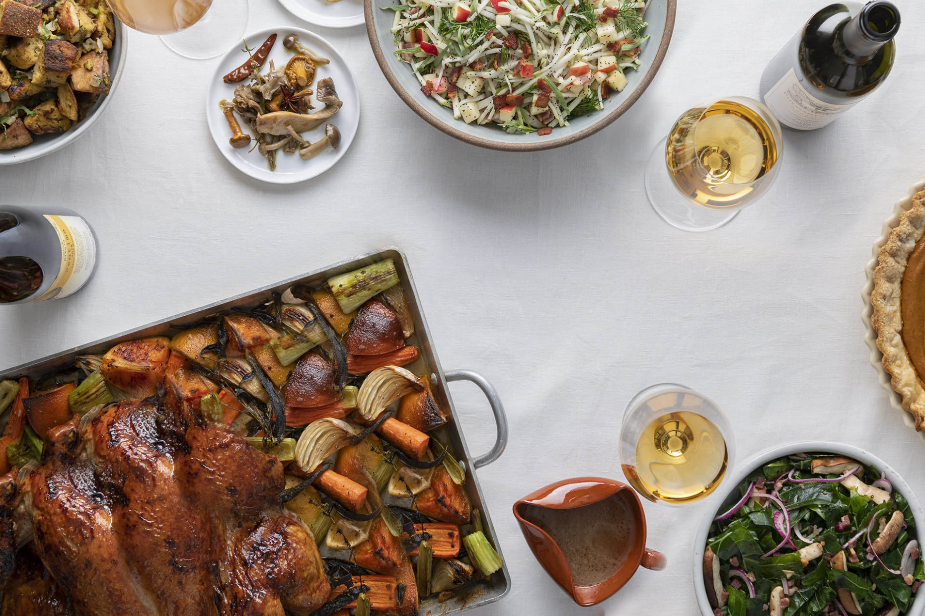 The Best Thanksgiving Recipes to Pair with Skin-Contact Wine - wine food recipes