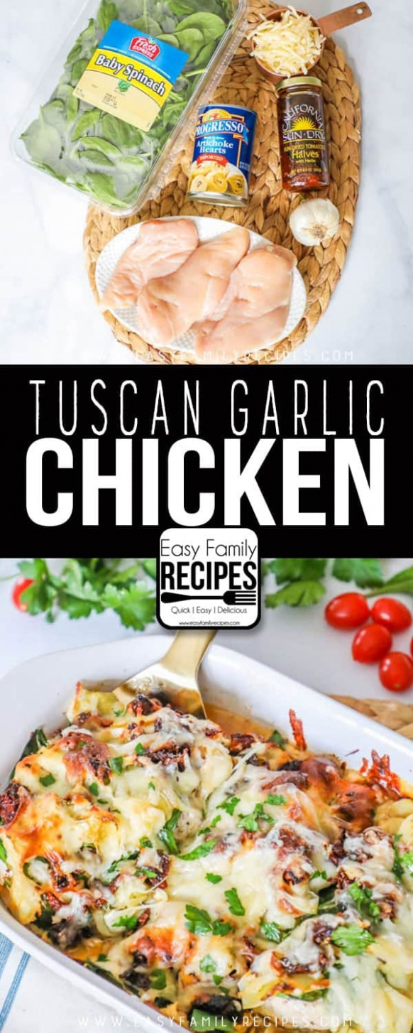 The BEST Tuscan Garlic Chicken - Easy Family Recipes - arbonne recipes dinner