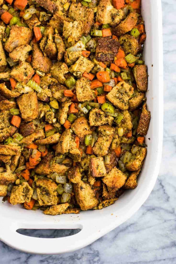 The Best Vegan Stuffing Recipe - recipes vegetarian and gluten free