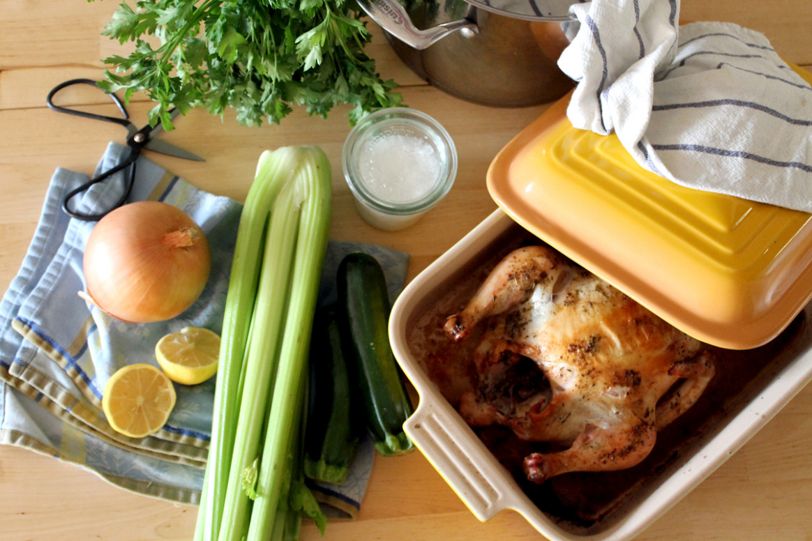 The Drinkable Flu Shot: Chicken Soup with Bone Broth - chicken recipes using chicken stock