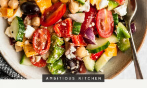 The Easiest Chopped Greek Chickpea Salad | Ambitious Kitchen – Recipes Salads For Dinner