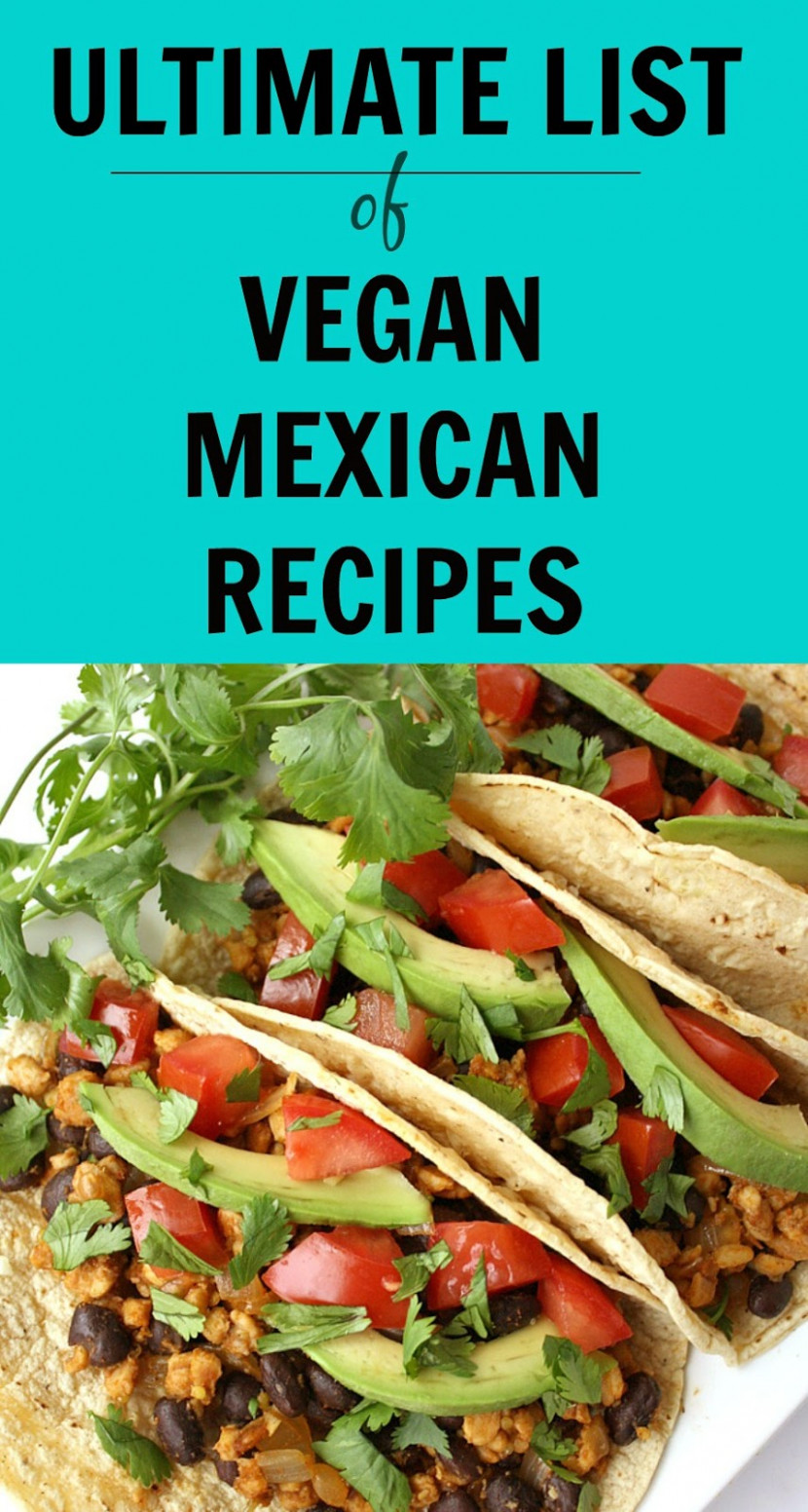 The Garden Grazer: Ultimate List of Vegan Mexican Recipes! - recipes mexican food
