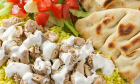 The Halal Guys Chicken & Rice with White Sauce | Baked in AZ
