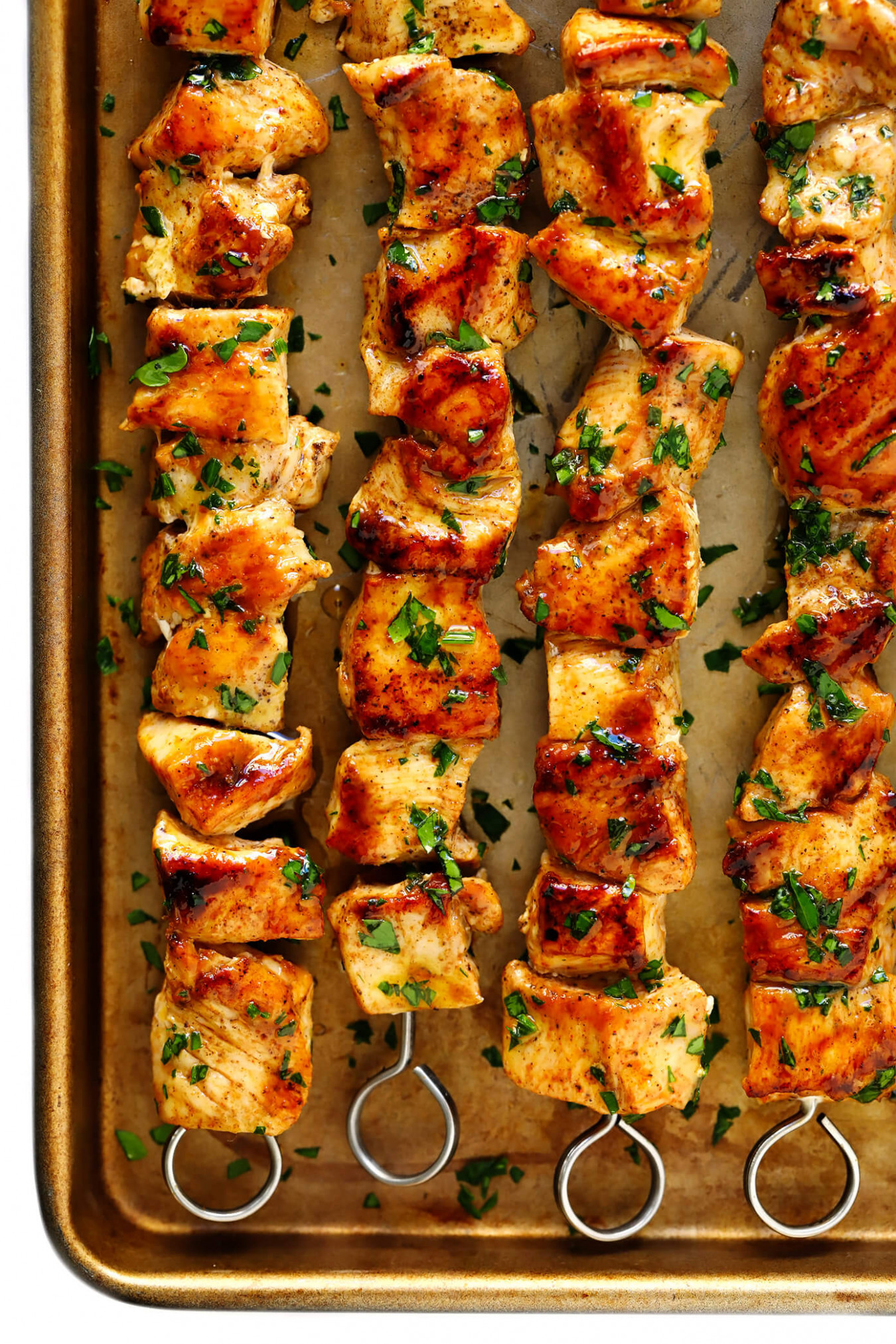 The Juiciest Grilled Chicken Kabobs | Gimme Some Oven - kabob recipes chicken