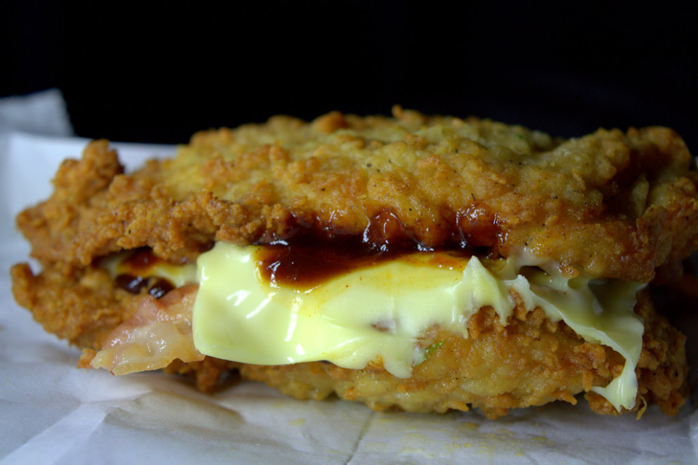 The KFC Double Down Bacon Burger - recipes diet food