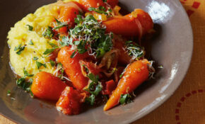 The new vegetarian: braised carrots with sprouted-seed ...