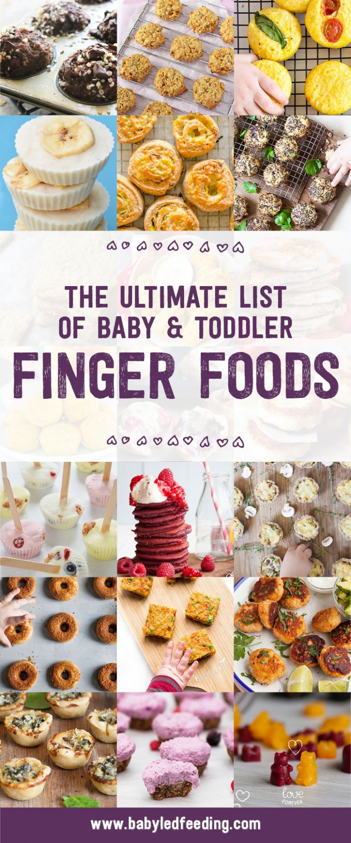 The Ultimate List of Baby & Toddler Finger Foods - Baby Led ..