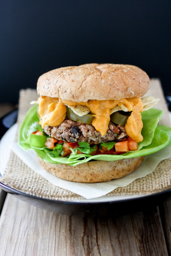 The Ultimate Mexican Nacho Burger- Veggies Don't Bite - recipes junk food