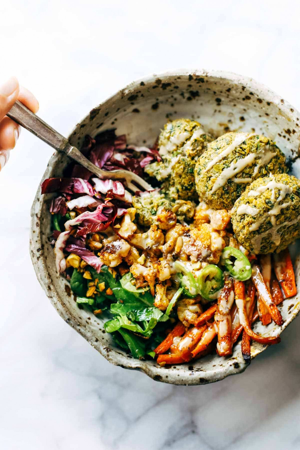 The Ultimate Winter Bliss Bowls Recipe - Pinch of Yum - falafel recipes dinner