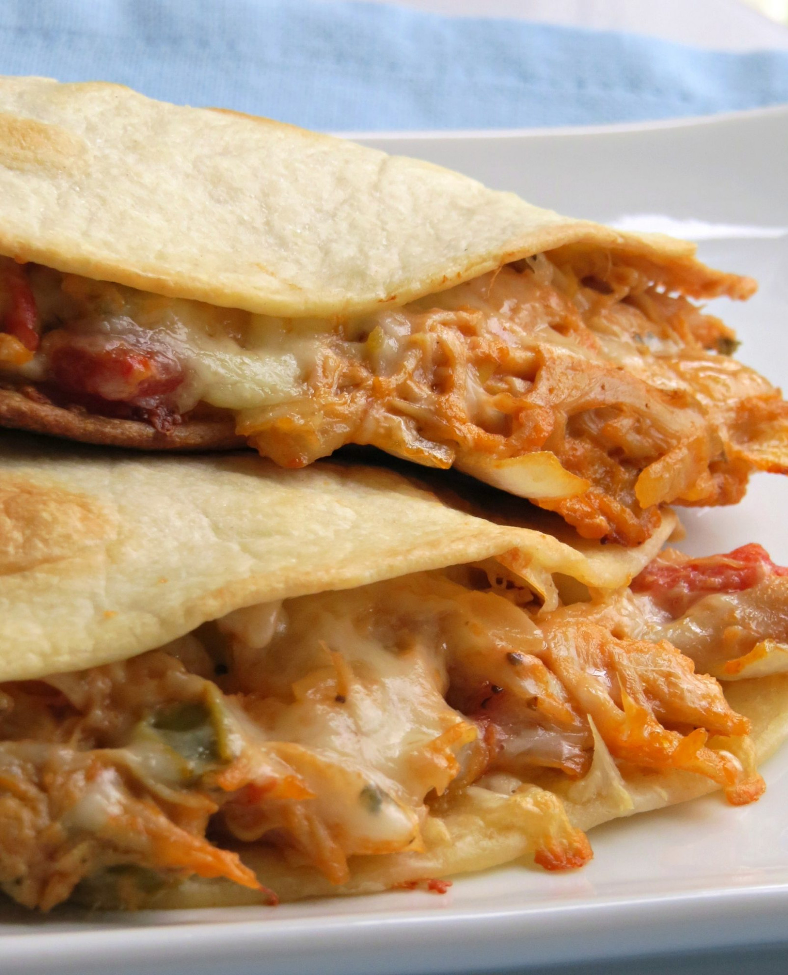 These Cheesy Chicken Quesadillas are out of this world ..