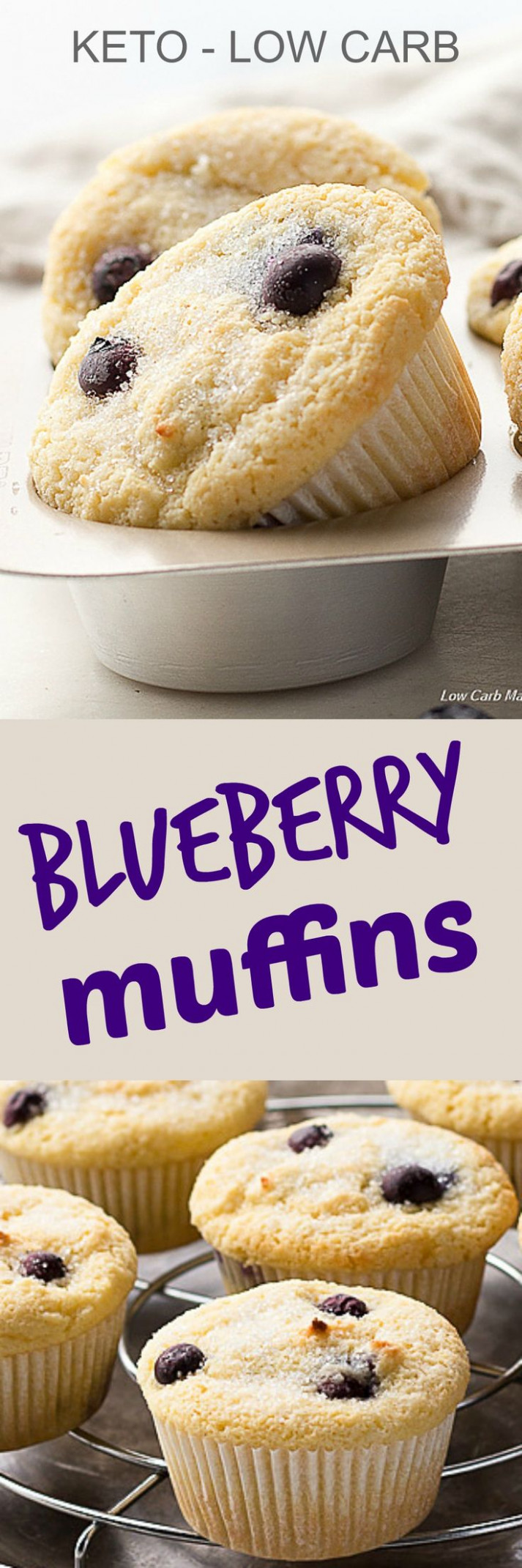 These keto blueberry muffins are low carb and gluten free ..