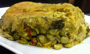 This is a Persian dish made with Dill, Lima Beans and ...