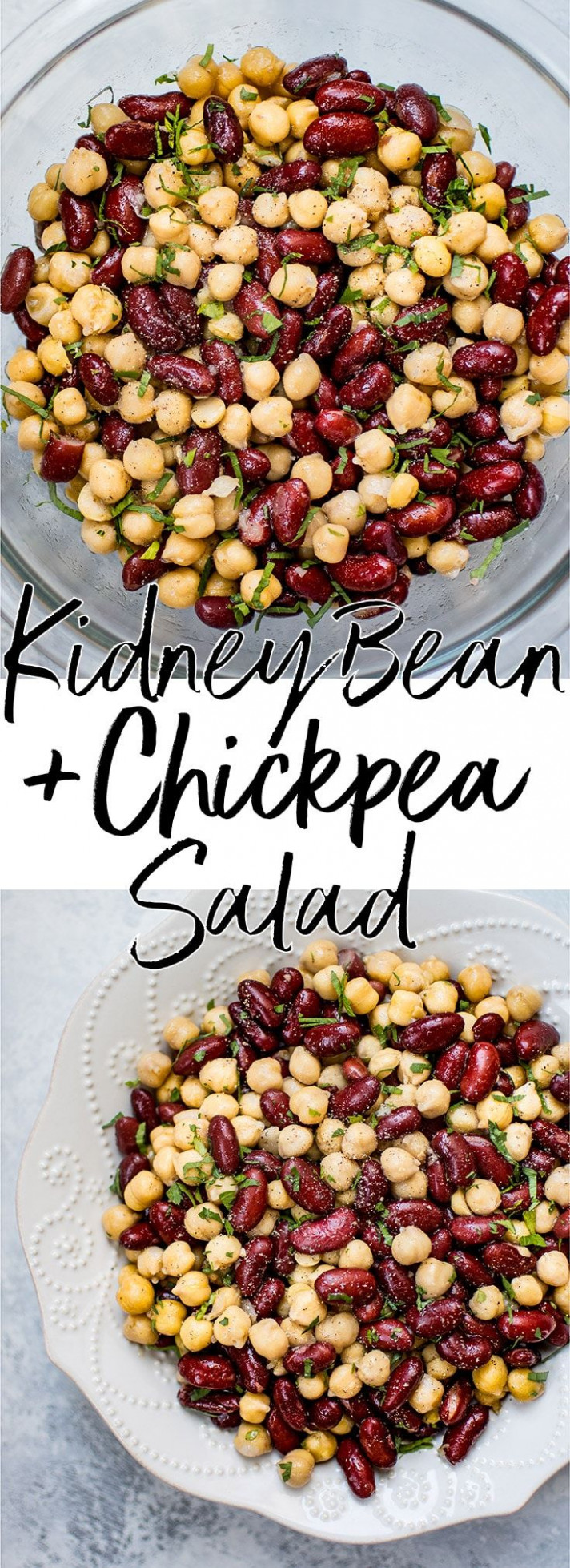 This kidney bean and chickpea salad is ridiculously easy with only 5 ingredients! Healthy, delicious, and ready in under 10 minu - healthy kidney bean recipes