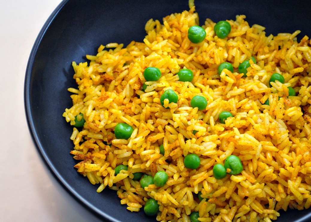 This little Indian side dish is beautiful. Golden-yellow ..
