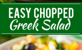 This Recipe For Chopped Greek Salad Is A Variety Of Fresh ..