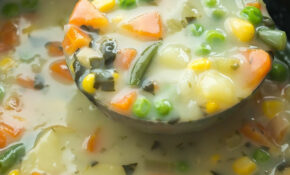 This Slow Cooker Creamy Vegetable Soup Is A Hearty ..