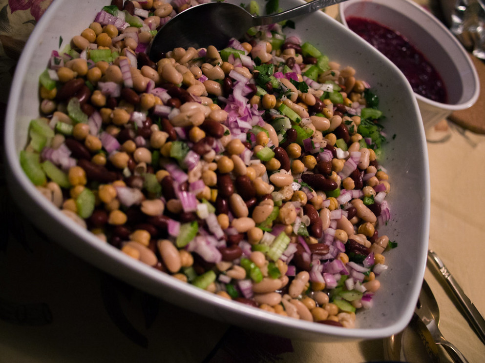 Three Bean Salad - vegetarian mediterranean recipes