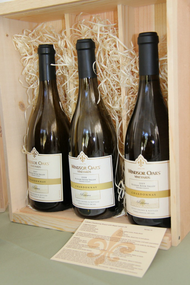 Three Bottle 2007 - 2009 Reserve Chardonnay Vertical in Wood Box - wine food recipes