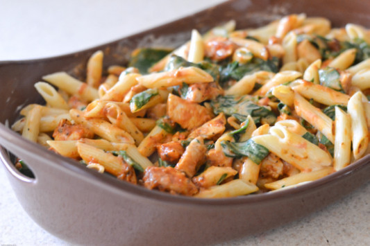 Three Cheese Chicken Florentine - Flour On My Face - recipes for family dinner