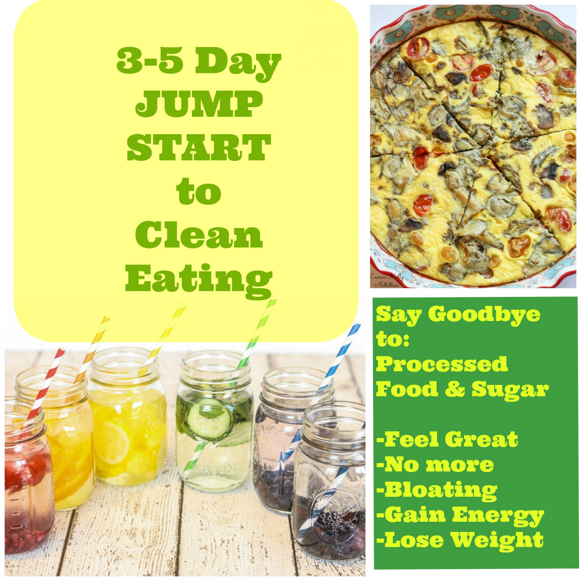 Three – Five Day Jump Start to Clean Eating and Grocery List - recipes to lose weight vegetarian