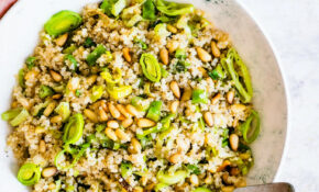 Toasted Pine Nut And Leek Quinoa Salad Recipe – Food Recipes Quinoa