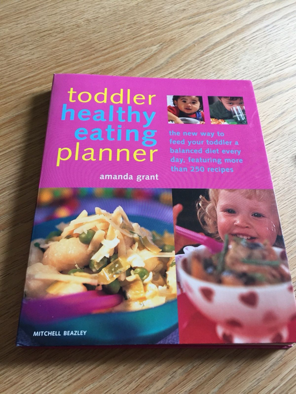 Toddler healthy eating planner book - healthy recipes book