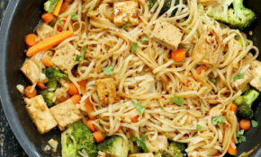 Tofu And Brown Rice Noodles In Hoisin Sauce – Vegan Richa – Vegetarian Recipes With Rice And Vegetables