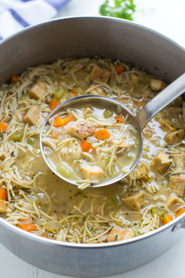 Tofu 'Chicken' Noodle Soup | Recipe | F»Tofu | Vegan Soup ..