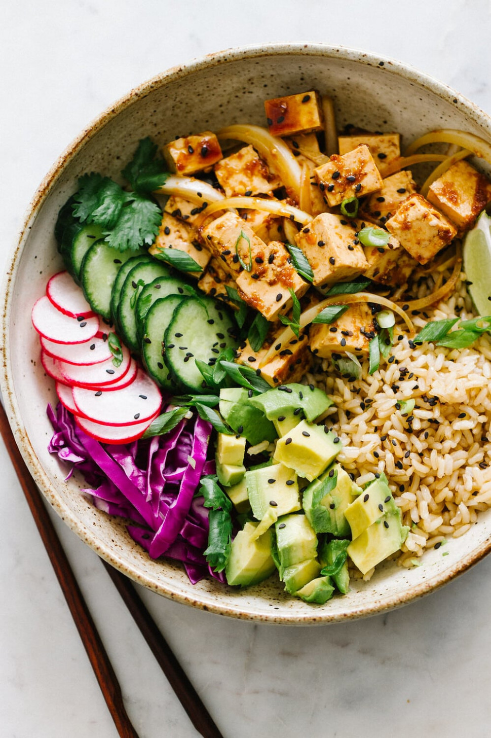 TOFU POKE BOWL (VEGAN + EASY) - tofu vegan recipes dinner