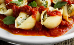 Tofu Stuffed Shells Recipe – Chai Mommas – Jumbo Shell Pasta Recipes Vegetarian