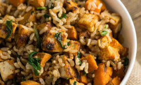 Tofu Sweet Potato Bowl With Tahini Sauce – Sweet Potato Recipes Vegetarian