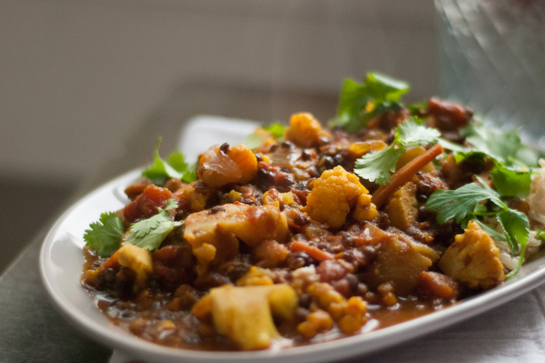 Tomato and Lentil Curry - recipes lentils vegetarian