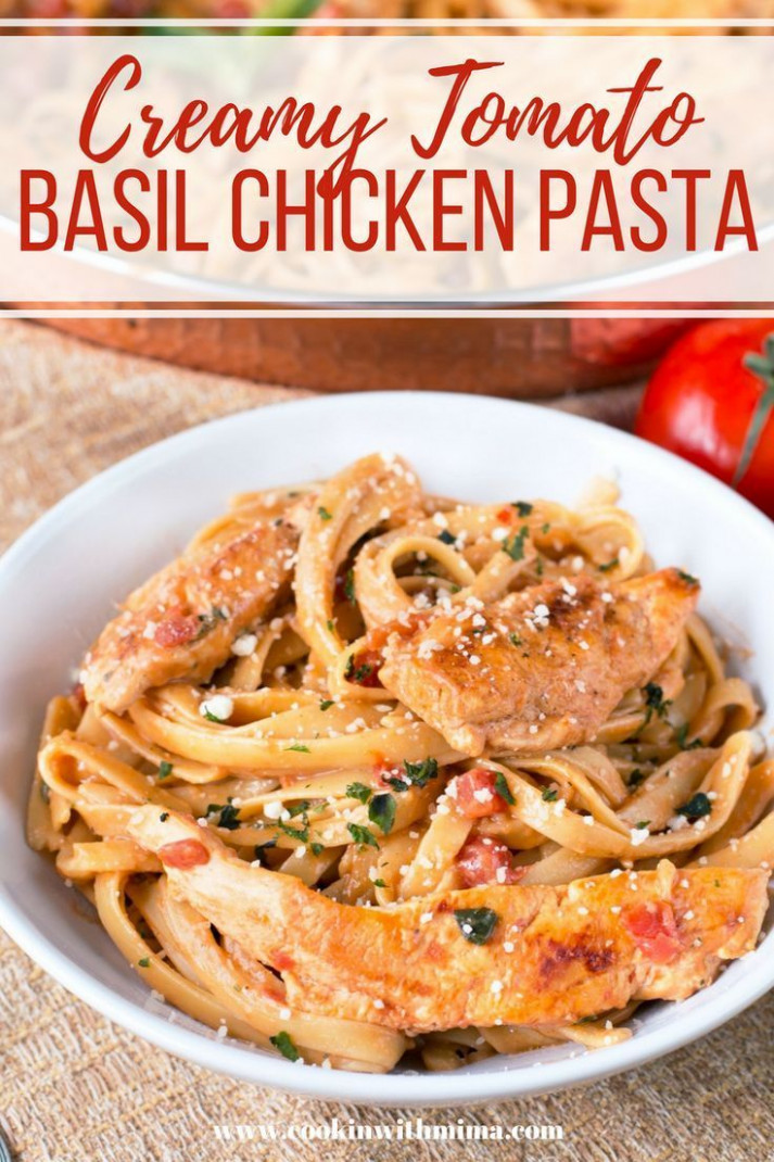 Tomato Basil Chicken Pasta - chicken recipes with pasta
