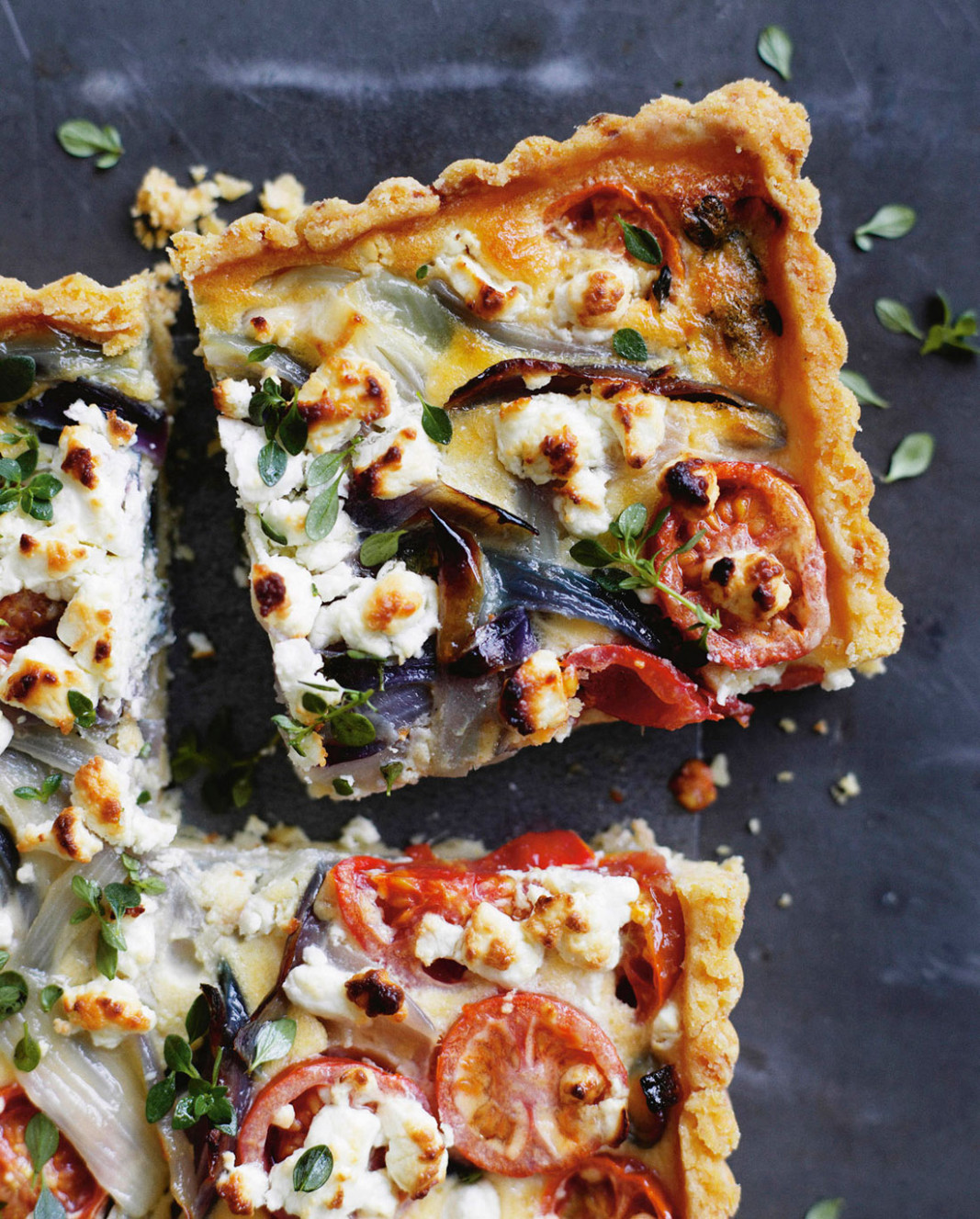 Tomato, onion and goat's cheese tart recipe : SBS Food - sbs food recipes
