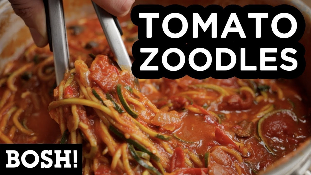 TOMATO ZOODLES | BOSH! | VEGAN RECIPE - vegetarian recipes zoodles