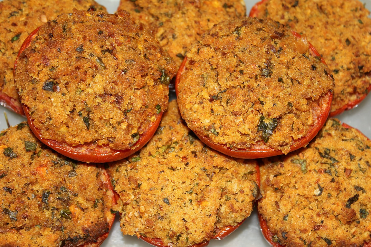 Tomatoes, Cooked, Eat, Breadcrumbs - Healthy Recipes Book