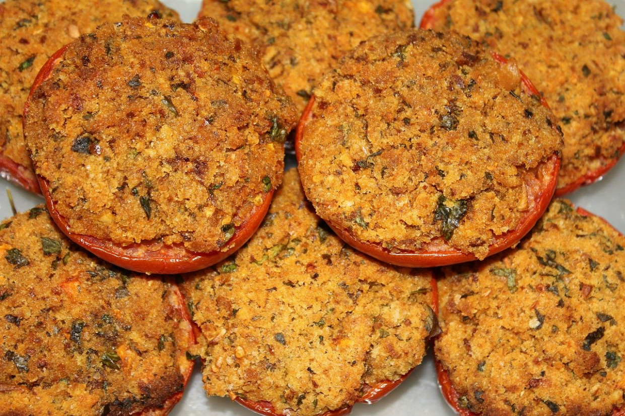 Tomatoes, Cooked, Eat, Breadcrumbs - vegetarian mediterranean recipes