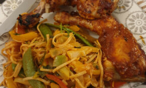 Tonight's Dinner, Sticky Chilli Chicken With Noodles. Pinch ..