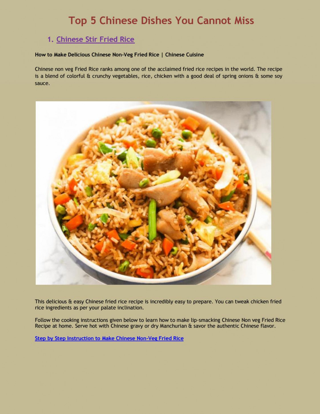 Top 13 Chinese Dishes You Cannot Miss by PositiveNewsTrands ..