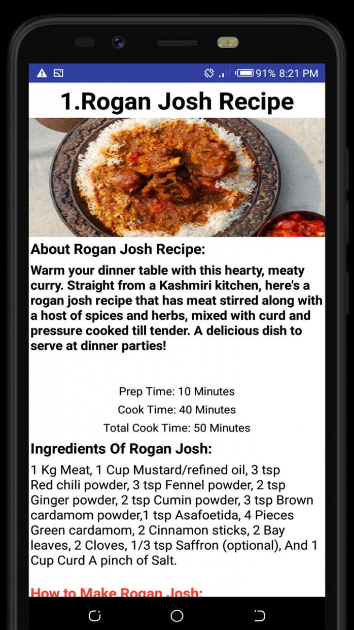 Top 15 Non Veg Recipes Of India For Android - APK Download - Dinner Recipes Non Veg
