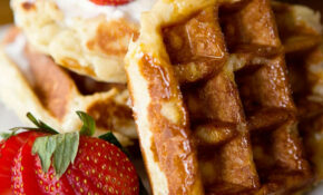 Traditional Belgian Liege Waffle Recipe | Ashlee Marie ..