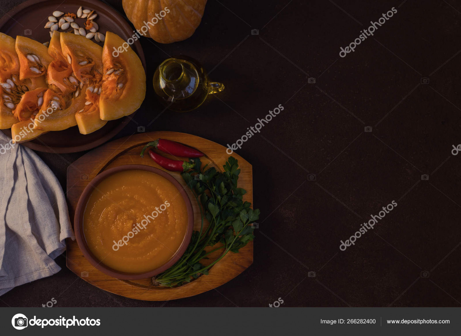 Traditional Fall Dishes Hot Spicy Pumpkin Soup Pumpkin Seeds ..