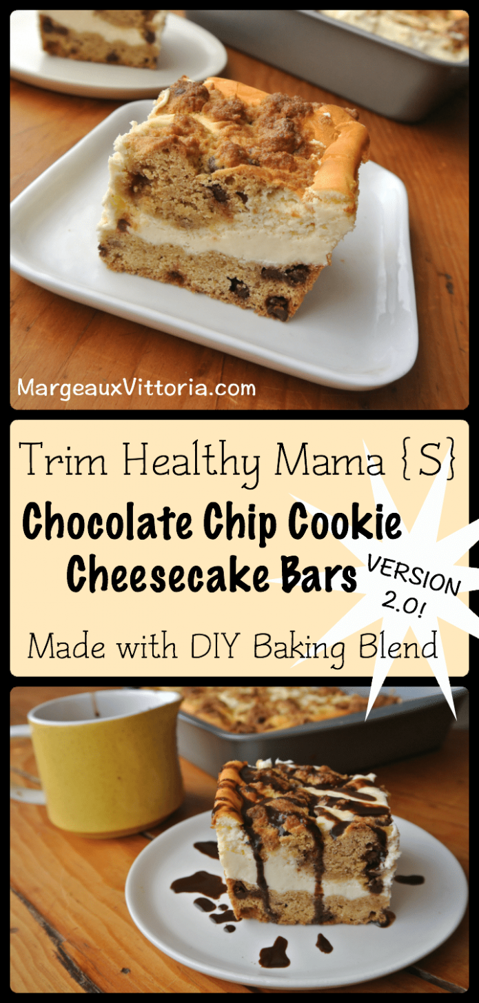 Trim Healthy Mama Chocolate Chip Cheesecake Bars (Version ..