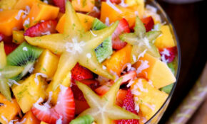 Tropical Fruit Salad with Honey Lime Dressing ...