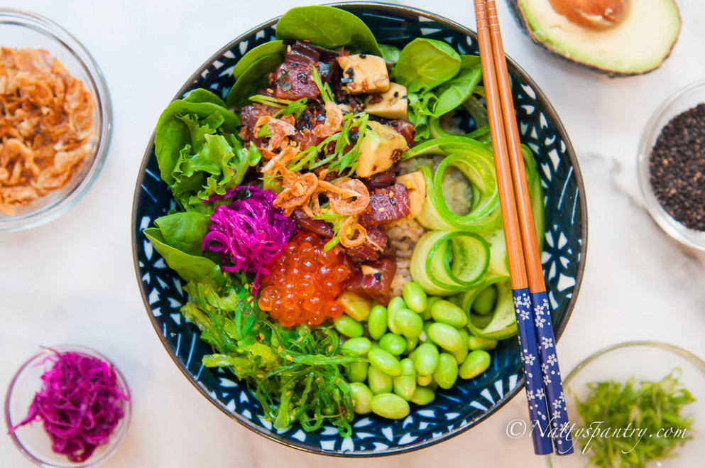 Tuna Poke Bowl Recipe - recipes soul food with pictures