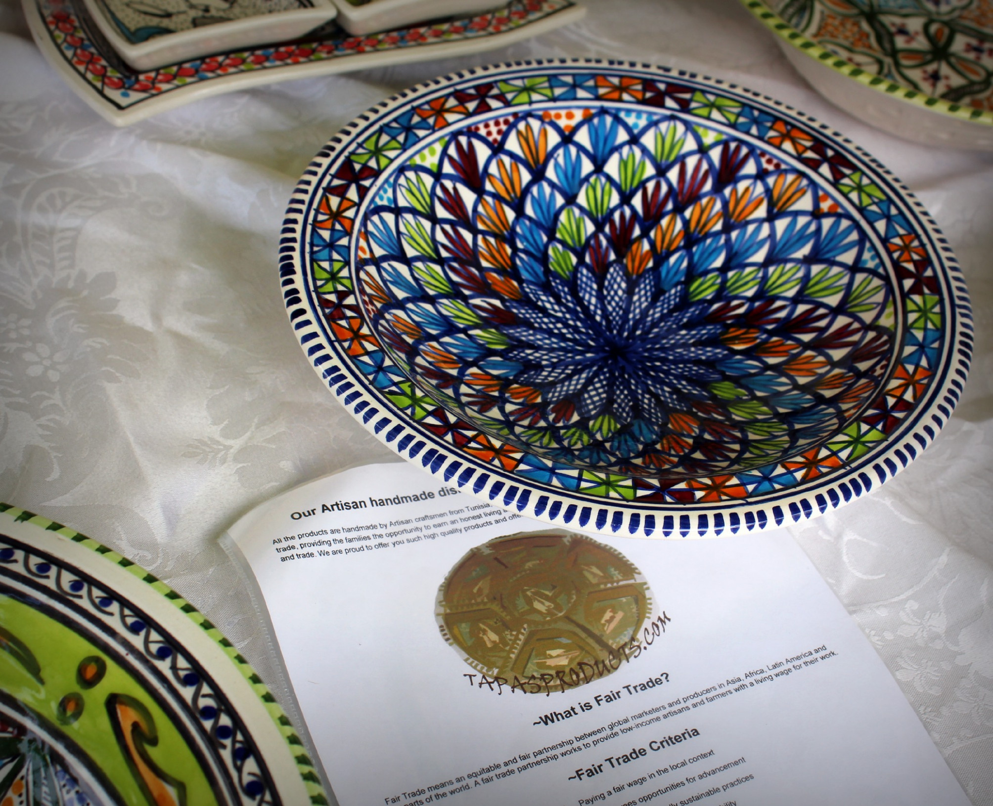 Tunisian Pottery in Stratford Upon Avon | NAZAR BLUE - recipes made with cream of chicken soup