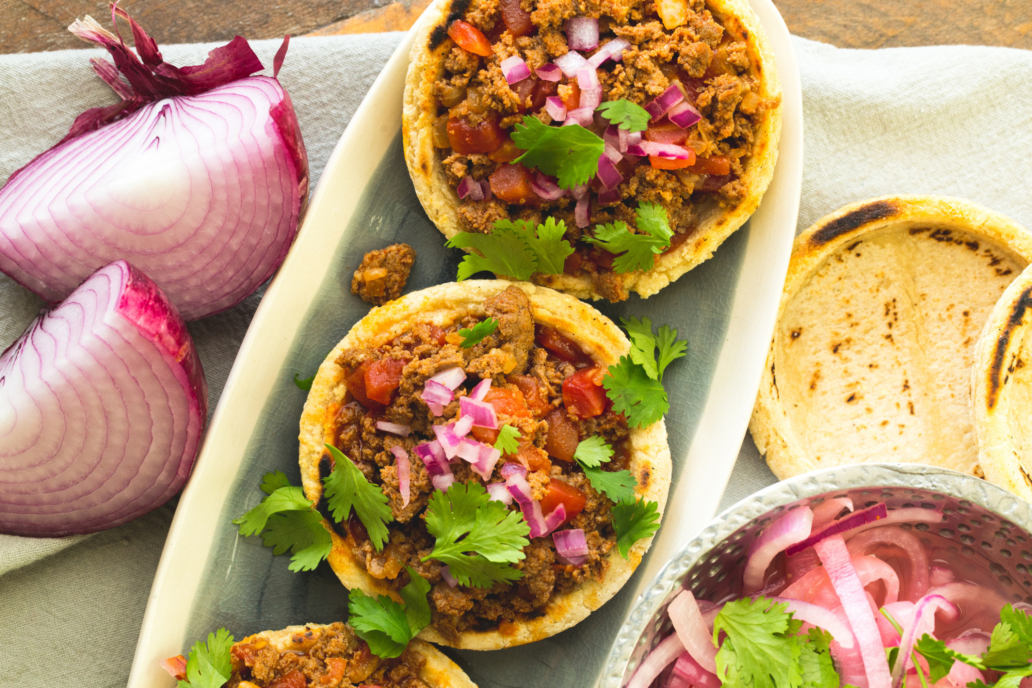 Turkey Sausage-Chorizo Sopes - chorizo recipes dinner
