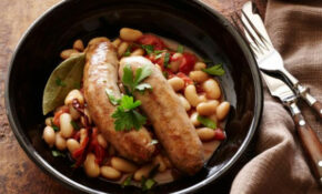 Turkey Sausages With Spicy Beans : Sausages With Fagioli ..