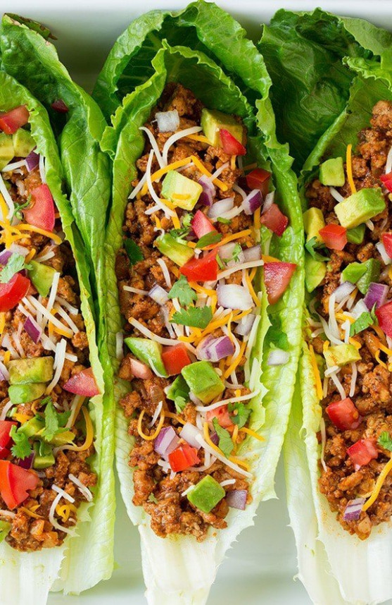 Turkey Taco Lettuce Wraps - Chicken Recipes To Lose Weight